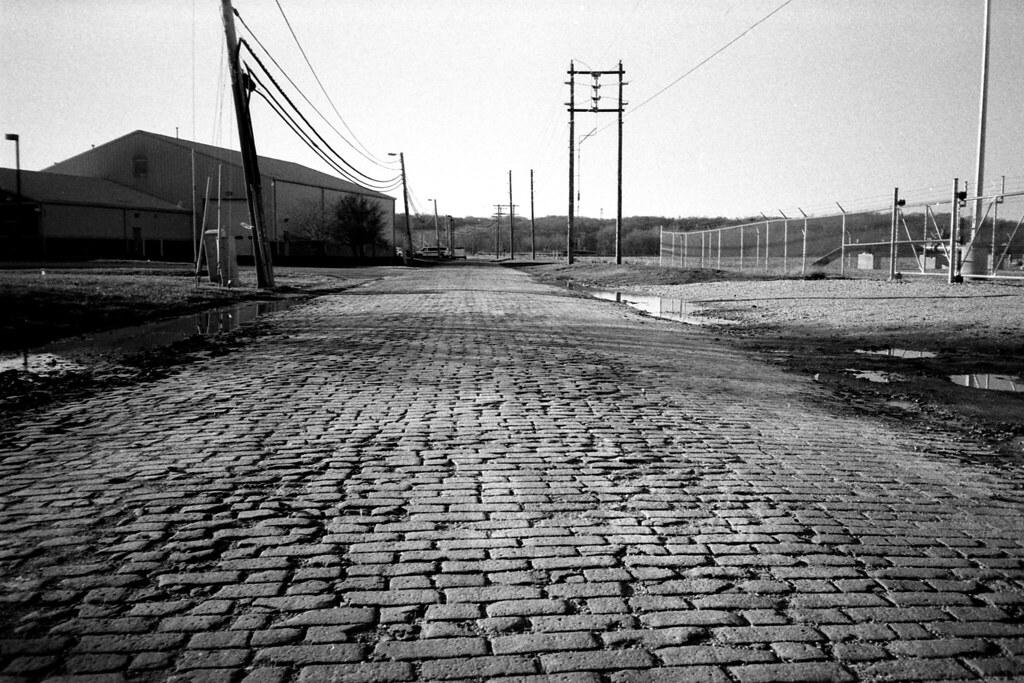 Old brick road, Martinsville, IN
