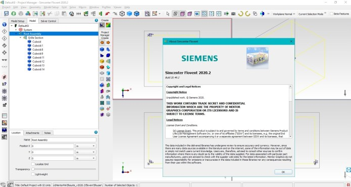 Working with Siemens Simcenter FloVENT 2020.2 full license