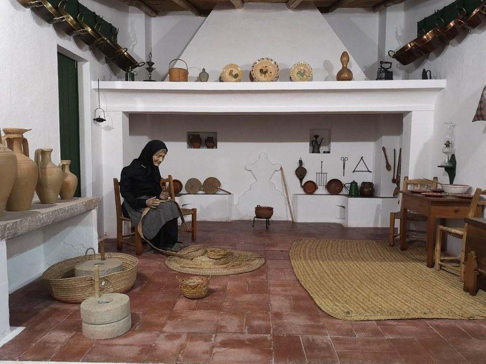 cestas cesteria artesana etnografia Museo Regional del Algarve Faro Portugal 02