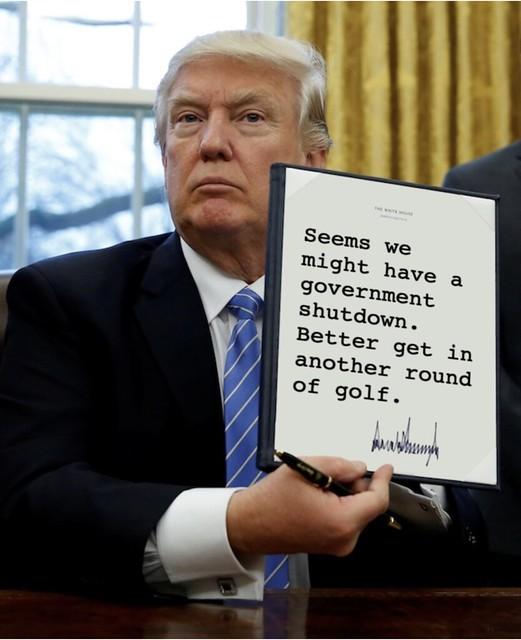 Trump_golfshutdown