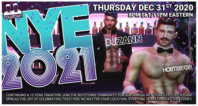 New Years Eve 2021 - Boystown