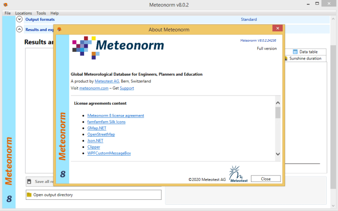 Working with Meteonorm 8.0.2 full license