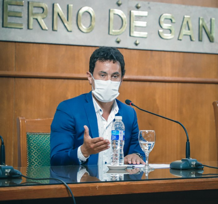 2021-01-11 PRENSA: Conferencia de Prensa del Gobernador Sergio Uñac, Jorge Chica y Gabriel Curuchet