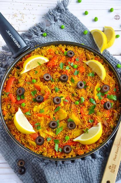 Vegan Quinoa Paella #AncientHarvest #MySillyLittleGang