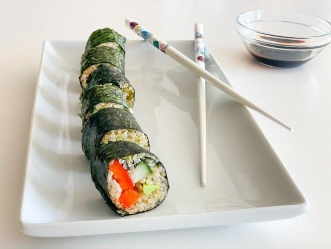 Vegan Quinoa Sushi #AncientHarvest #MySillyLittleGang
