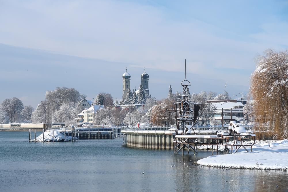 Schnee Spaziergang Friedrichshafen am Bodensee Januar 2021 hyyperlic-43
