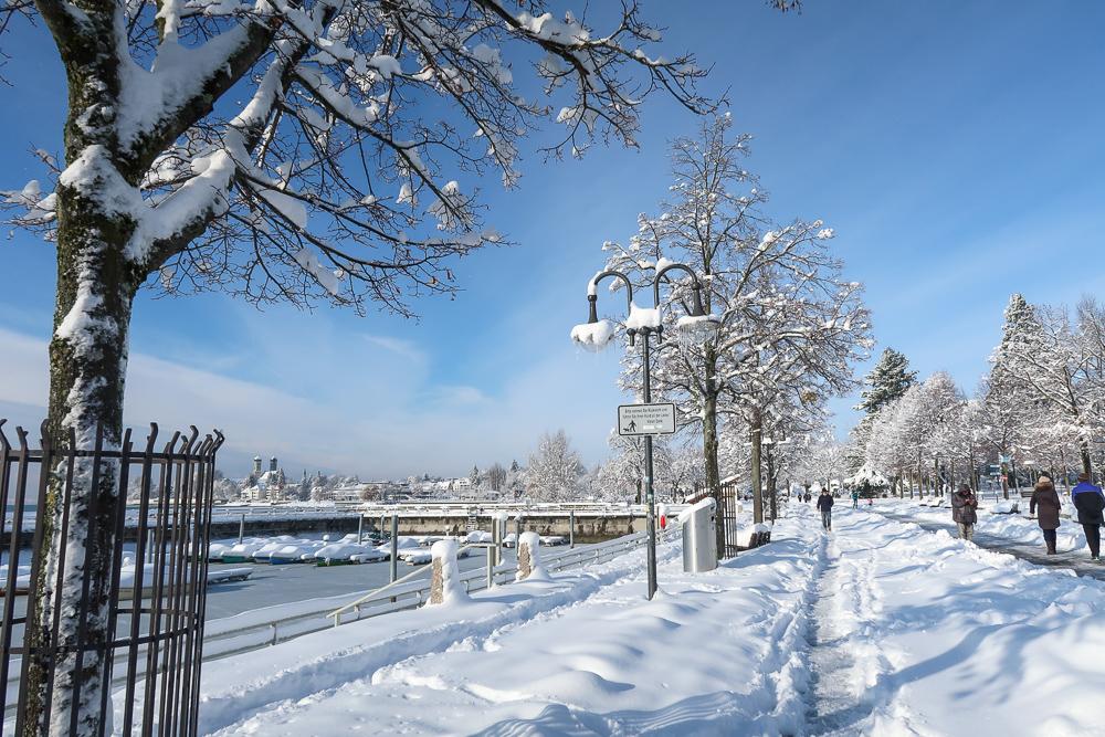 Schnee Spaziergang Friedrichshafen am Bodensee Januar 2021 hyyperlic-29