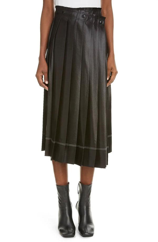 acne-studios-pleated-satin-skirt