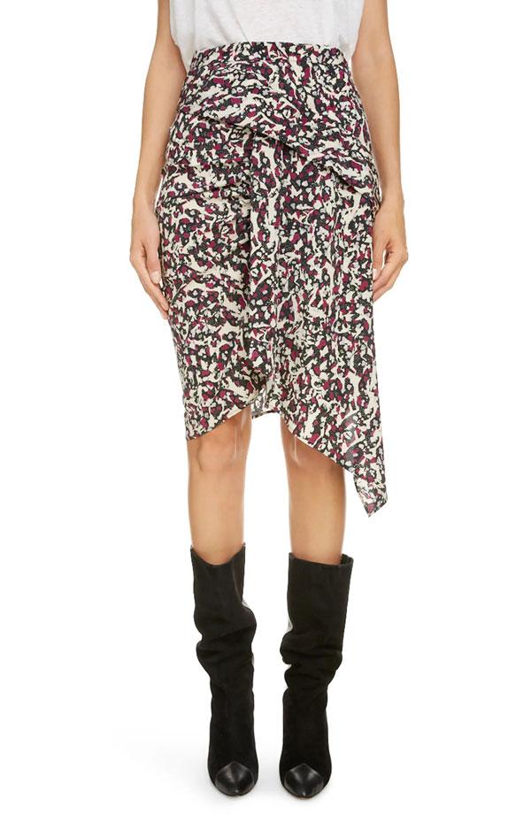 isabel-marant-drape-silk-skirt