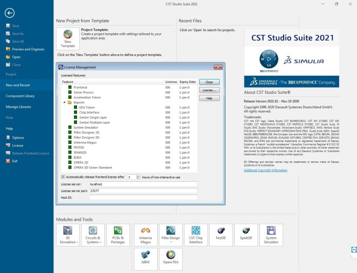 Working with DS SIMULIA CST Studio Suite 2021 SP1 Win64 full license