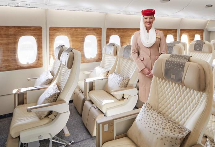 New A380 Premium Economy seat with crew