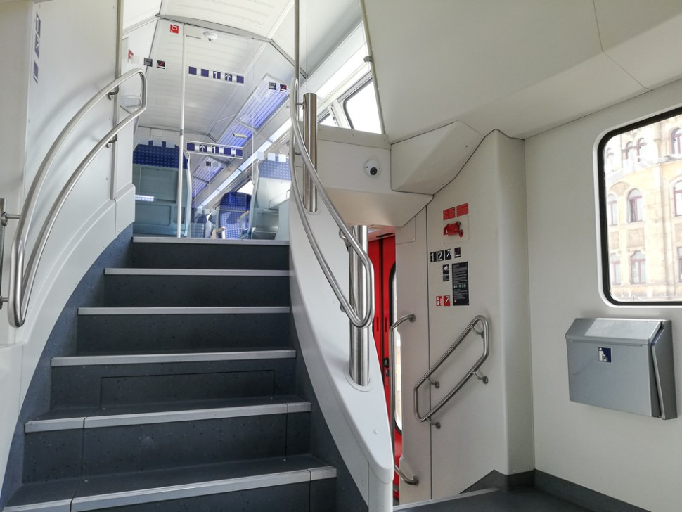 Dresden Suburban Train Saxony Bombardier Stairs Trip Report Blog JoyDellaVita