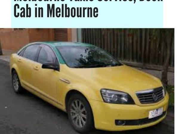 Book Cab in Melbourne