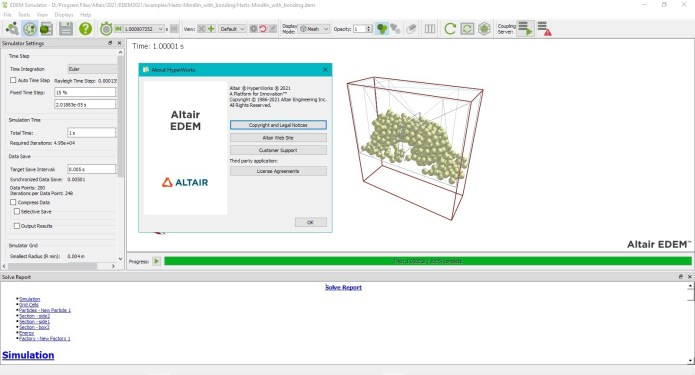 Working with Altair EDEM Professional 2021.0 full