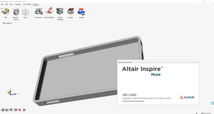Working with Altair Inspire Mold 2021.0 Build 2203 full license