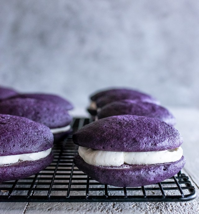 ube whoopie pies are here to brighten your day