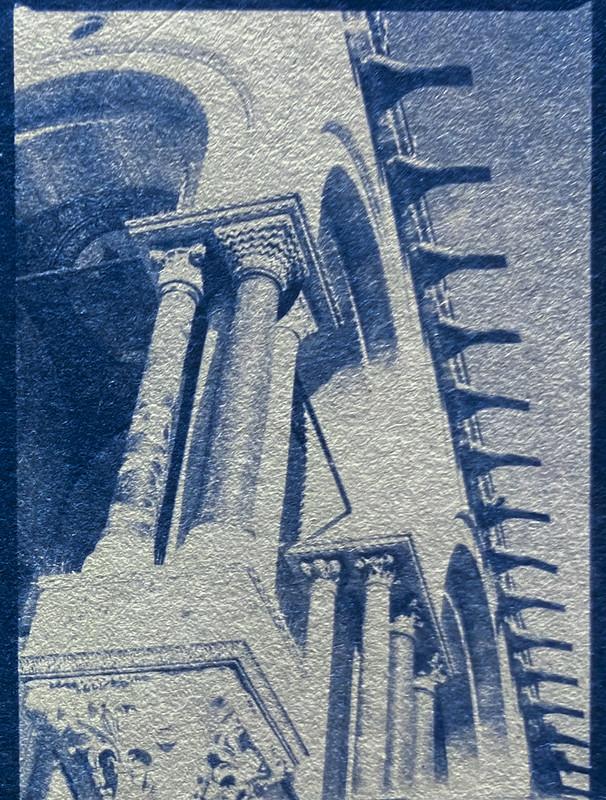 Basilica San Marco, Venice, Italy, cyanotype, from 6x45 medium format negative, Mamiya 645 Pro, October 2016