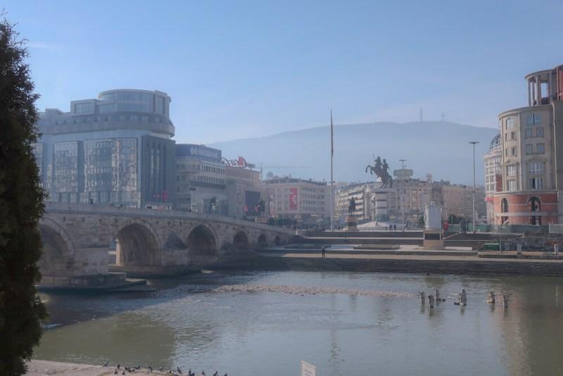 skopje smog air pollution north macedonia travel blog joydellavita | taken in Feb 2020