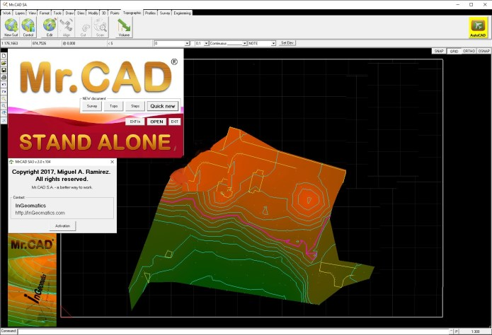 Working with InGeomatics Mr.CAD Stand Alone 3 v3.0 r.104 full