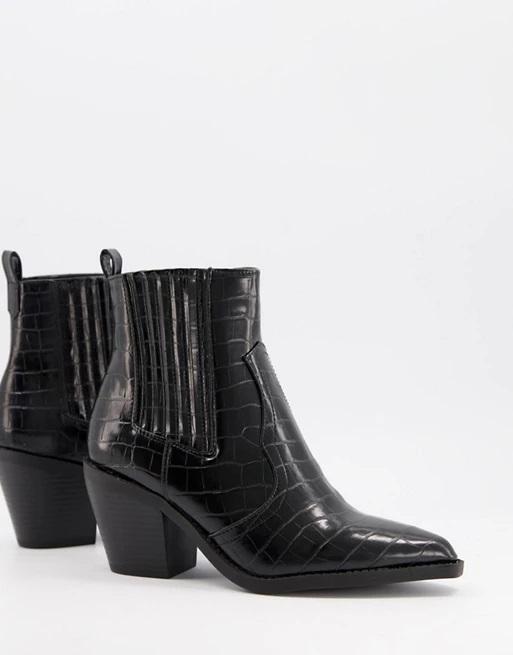 12-asos-black-western-cowboy-ankle-boots-croc