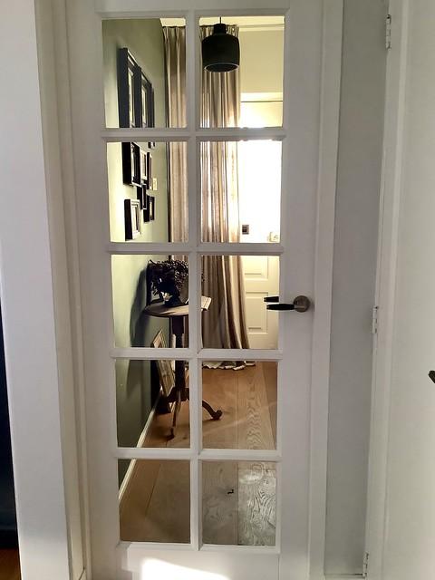 Hal deur met glas landelijk brocante