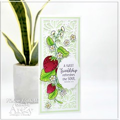 Sweet Friendship Slimline Card