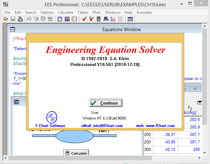 Working with F-Chart Engineering Equation Solver - EES Professional 10.561 full