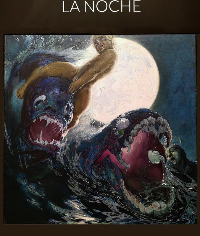 pintura La Noche Poema del mar museo Nestor Las Palmas de Gran Canaria
