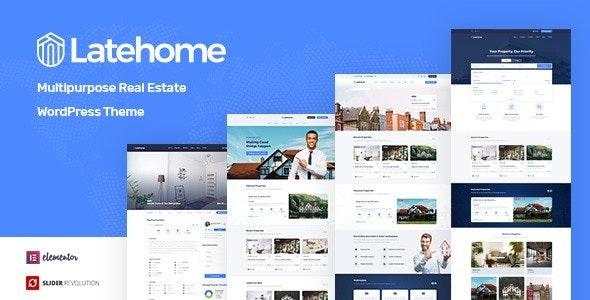 Latehome Real Estate WordPress Theme Themelexus