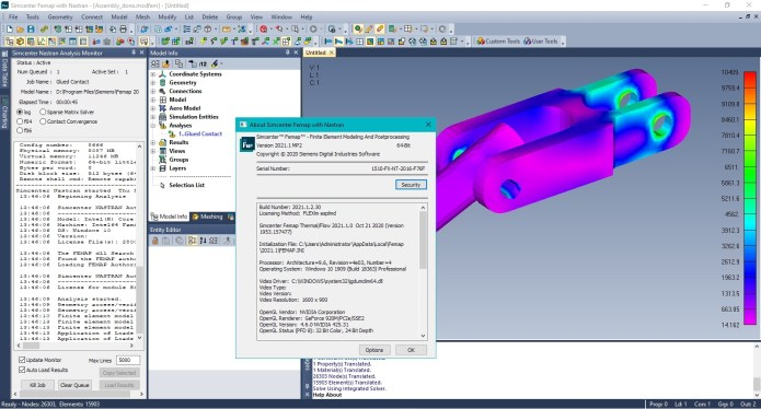 Working with Siemens Simcenter FEMAP 2021.1.2 with NX Nastran full