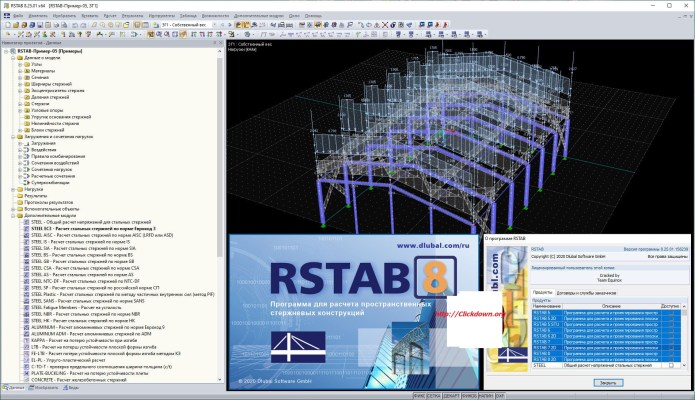Working with Dlubal RSTAB 8.25.01 full license