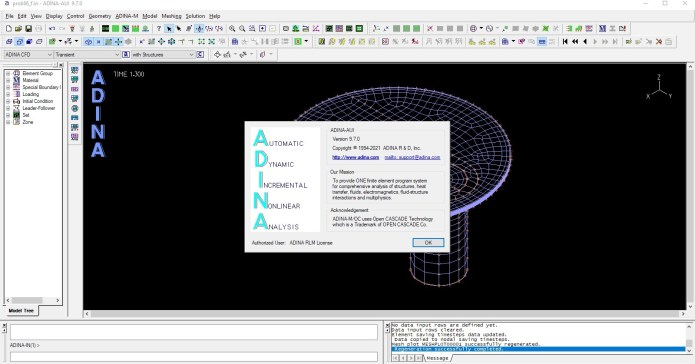 Working with ADINA System 9.7.0 full license