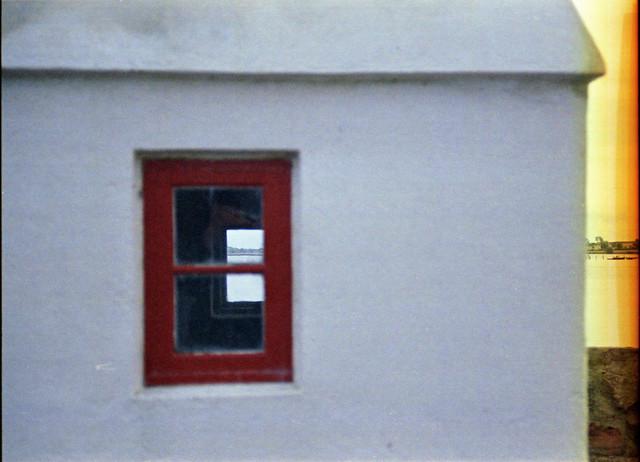 panorama view through the window