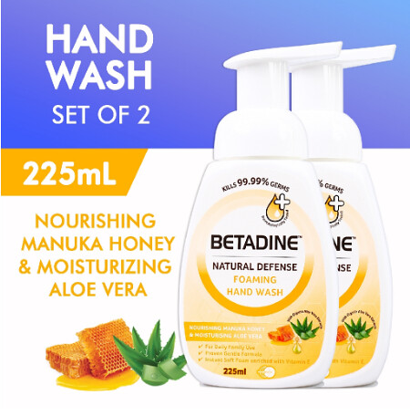 BETADINE Natural Defense Foaming Hand Wash Manuka Honey