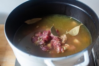 simmer the pork for two hours