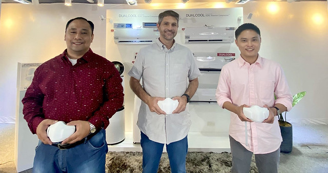 LGEPH Senior Product Manager Mr. Mayer Mendoza, LGEPH Brand Ambassador James Deakin, and LGEPH Product Manager Mr. Jave Enriquez