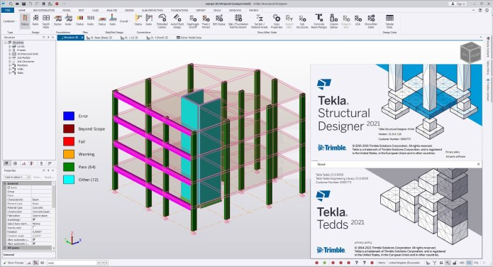 Working with Trimble Tekla Structures Design Suite 2021