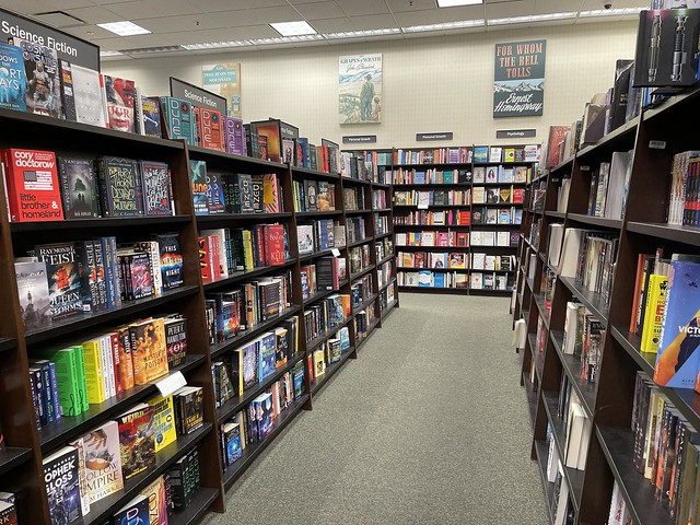 aisle of books