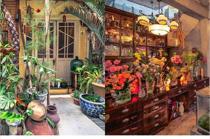 台中西區咖啡館 | 火山花店,巷弄裡的秘境,濃厚復古風的老宅甜點咖啡店。