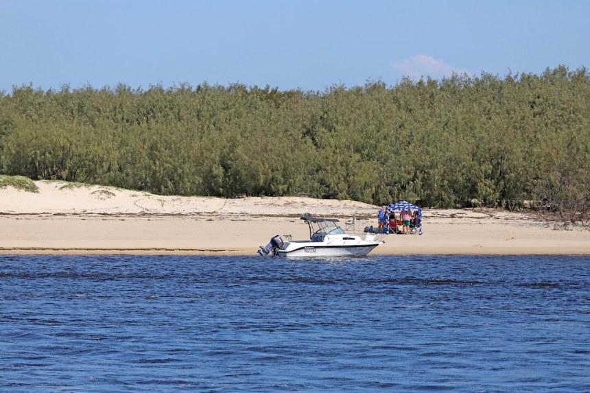 BRIBIE ISLAND FROM CALOUNDRA, SUNSHINE COAST, QUEENSLAND, AUSTRALIA :copyright: