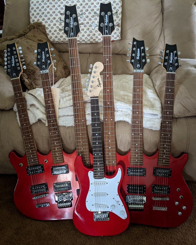 The Beast, and a mini strat.