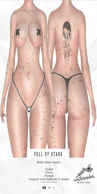 - Watercolor - Full of Stars BOM Tattoo Vendor