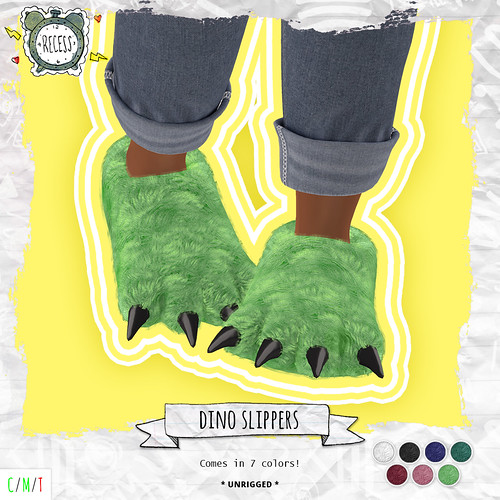 .{Recess}. - Dino Slippers Group Gift!