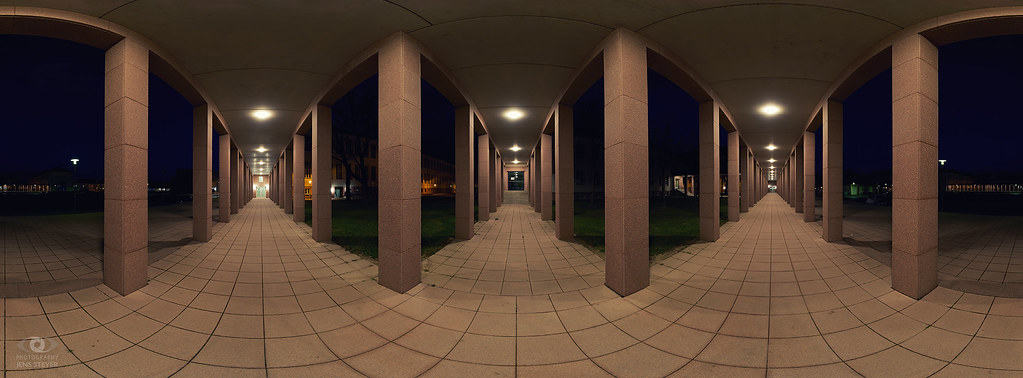 360° Panorama at night, Arcades ·  ·  ·  (R5B_2868 Pano)