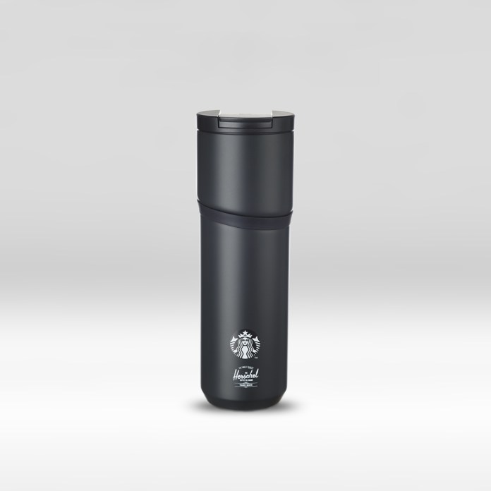 STARBUCKS® X Herschel Supply Co. 16oz Insulated Travel Black Stainless Steel Tumbler
