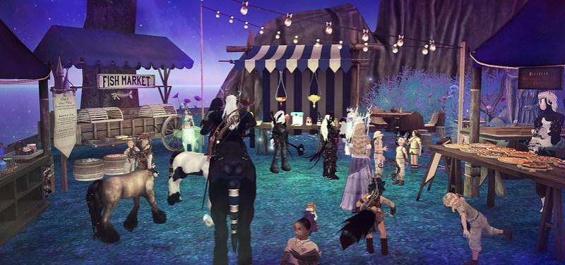 Riverside market visits Fantasy faire