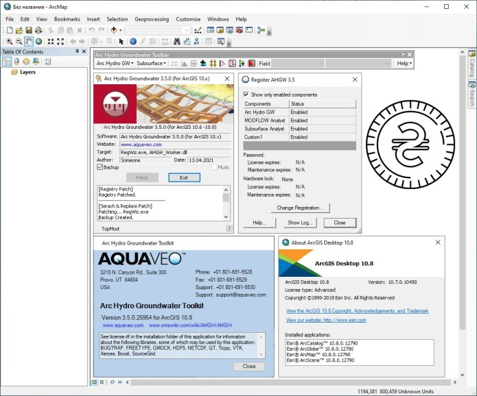 Working with Aquaveo Arc Hydro Groundwater Toolkit v3.5.0.25954 for ArcGIS v10.8