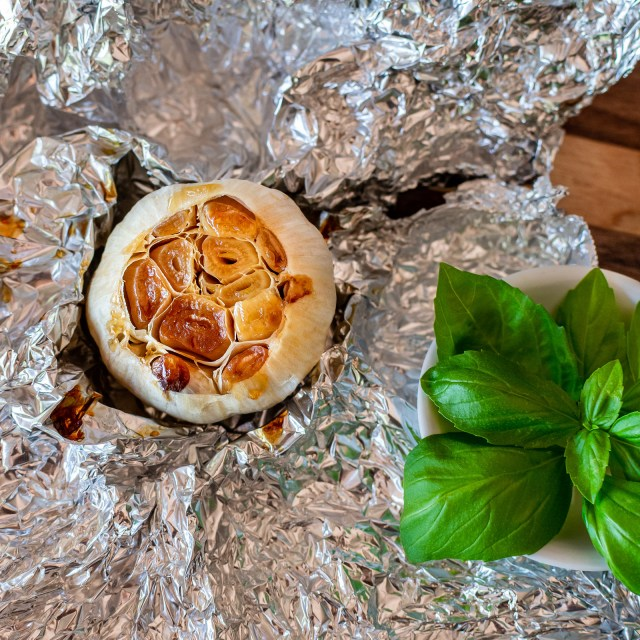 soft, golden, and buttery roasted garlic