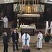 Bénédiction de la 1ère pierre de la future grotte de Lourdes à Lupstein, samedi 1er mai 2021.