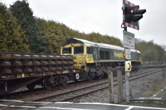 Freightliner class 66 at Clara Vale